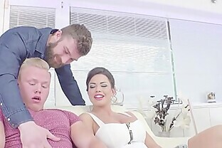 Hardcore bisexual threesome with Euro hunk fucking