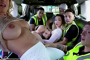 BANGBROS - Wildest Limo Ride A La Fuck Team 5 With Ashley Adams, Jane Wilde, Ryan Conner, Benny Rodriguez, and Oliver Flynn
