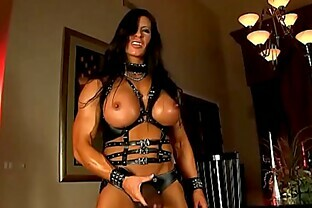 Aziani Iron Angela Salvagno in leather with strap-on