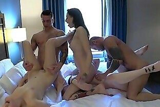 Redhead 18 Year Old Rori Rose Gets Fucked by The Baltimore Crew