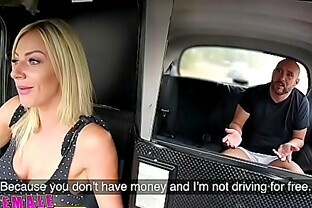 Female Fake Taxi Busty blonde rides lucky passengers cock to pay fare