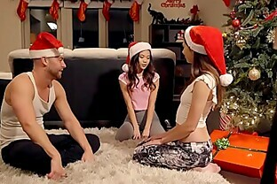 Stepbro s Christmas Threesome And Sister Creampie - My Family Pies S5:E6