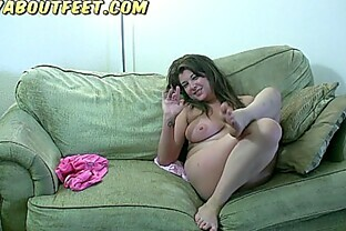 Kelly Rich, chubby teen girl plays with her feet and gets naked, teasing us!