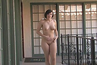 sexy-brunette-risky-public-nude-caught-interview