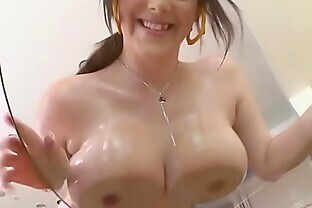 Big tits whore playing with her tits