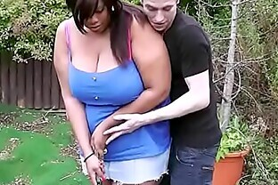 First date sex with busty ebony plumper