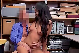 Latina teen thief Sophia Leone offers pussy for freedom