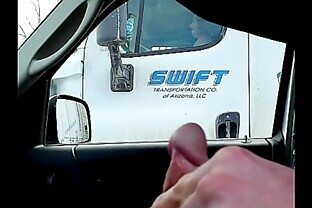 dick flash to a female trucker #3