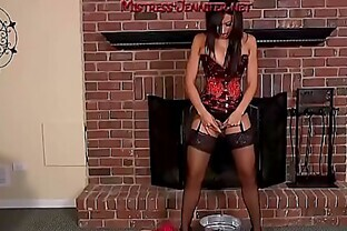 Mistress Tangent sissy femdom facesitting and milking of male slave