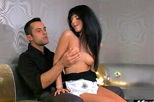 Maid Jessyka Swan knows her tip jar isnt filling up by itself so she gets on her knees and begs for some