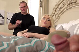 Alluring chick Trillium joins a couple of men for a bisexual threesome