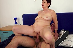 Horny Granny Anastasia gets licked then pounded in mature amateur clip