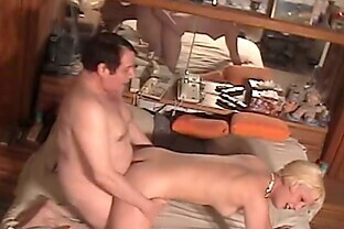 Blonde Cutie Fucks An Ugly Fat Guy For The Money