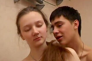 Teen Couple Fucks After Watchting Porn