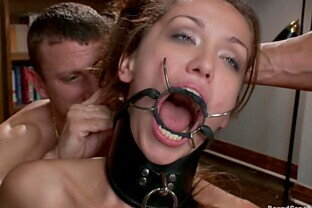Mad Gangbang in BDSM Vid with DP and Bukkake in Classroom