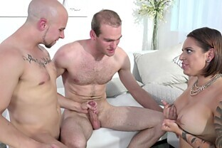 Eli Hunter has a great time with a couple of bisexual guys