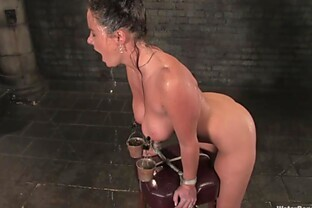 Water torture in extreme BDSM scene