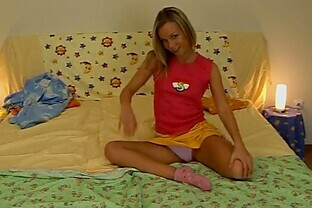 Extremely Horny Blonde Teen In Hot Masturbation Video
