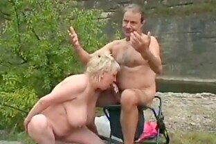 Lucky Old Fisherman Bangs a Grandma and a Teen at the Same Time