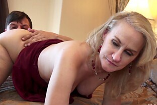 Small-titted granny Valerie Rose having her pussy penetrated