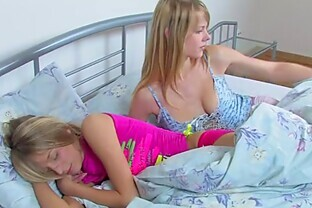 Cute Lesbian Blonde Teens Fuck Their Tight Shaved Pussies With Sex Toys