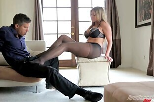 Brianna Brooks is fucked silly while wearing stockings