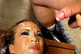 50 Guys Cream a Single Slut's Face