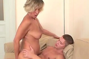 Blonde Housewife Sucks A Big Dick and Loves It
