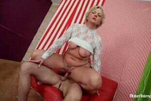 Rough Pleasure For A Slutty Mature Blonde