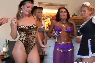 Horny mommies get together for a hot orgy