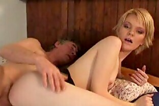 Hardcore Sex Clip with a Stunning Blonde Teen and an Lucky Old Fart