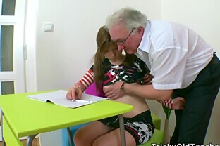 Adorable Teen's Nailed By A Horny Old Man