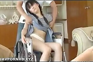 Japanese Mother and Disabled daughter Fucked together