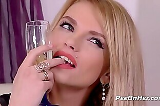 Peeonher - Piss inside ass play for naughty blonde Karina Grand