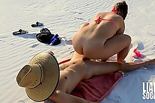 Stepbro Takes Sister To Fuck In The Sand