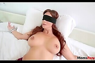 Perv son fucks mom s mouth when shes blindfolded!