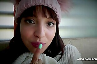 Sexy latin girl having fun in a dirty interview and masturbation - AndreaGarcia (net)