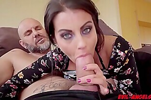 Busty Bianka Blue gets her milf pussy fuck doggystyle from behind!